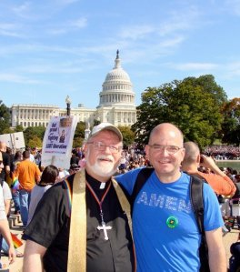 Sprinkle and Harry Knox at National Equality March