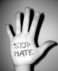 stop hate hand