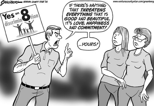 Ventura County Star Editorial Cartoon on Prop 8