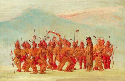 """Dance to the Berdache,"" George Catlin, ca. 1830"