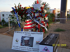 Oceanside LGBT Memorial to August Provost