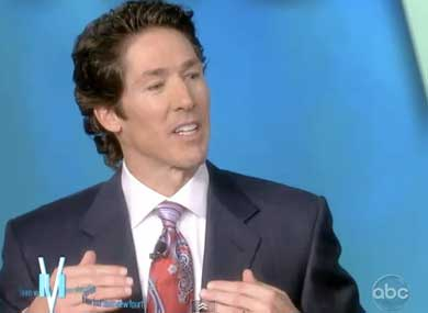 "... Osteen to task for denigrating lesbians and gay men as ""not God's best,"" ..."