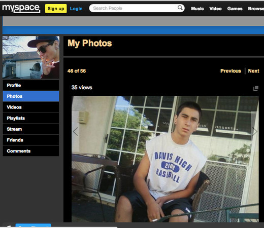 Clayton Garzon, 20, accused anti-gay hate crime attacker (MySpace capture).