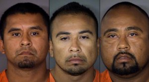 Three Brothers carried out alleged hate crime attack on a San Antonio gay man.  (L to R, Aurelio Huerta-Gonzalez, 33; Filiberto Huerta-Gonzalez, 30; and Juan Huerta-Gonzalez, 35.