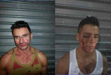 Gay bashing victims attacked outside Midtown Manhattan billiards club on Friday (WABC 7 images).