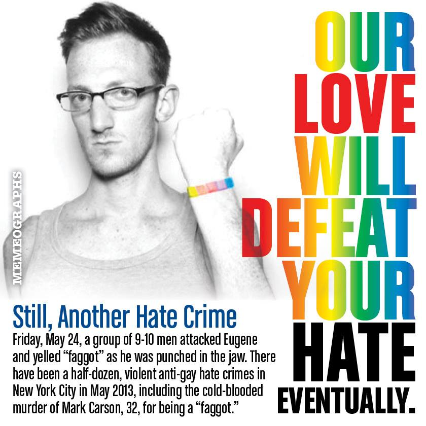 essay on hate crimes against gays Reports of hate crimes against gay men nationwide have also gone up slightly in recent years, according to fbi statistics while it's possible that more when these kinds of groups get on tv and make statements about how gay men are pedophiles  ultimately it does result in criminal violence.