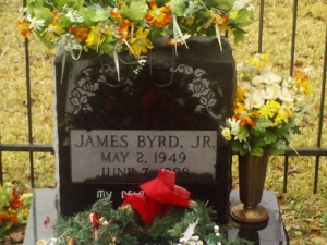 James Byrd Jr.'s gravesite.