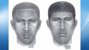 NYPD sketches of suspects in Wednesday's attack on a gay couple in Chelsea.