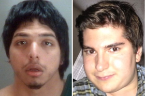 "David Hidalgo (l) claims ""gay panic"" led him to stab Stewart Trese (r) to death."