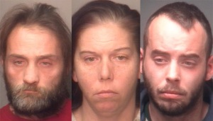 "(L to R) Lawrence Featheroff, Jamie Smith, and Brent Disbennet abused a disabled man for ""sexual thoughts about men."""